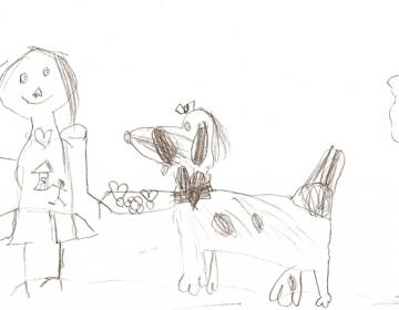 Tüdruk koeraga
